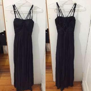 Midnight Navy Maxi Dress