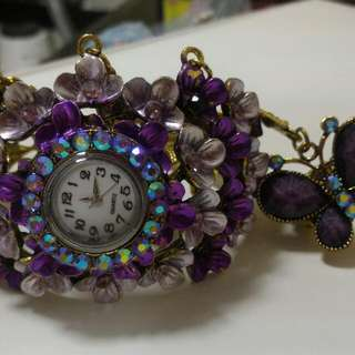 Bracelet Watch And Ring