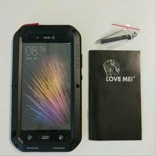 LOVE MEI Waterproof Shockproof Dirtproof Aluminum Cases Metal Cover for Xiaomi mi5
