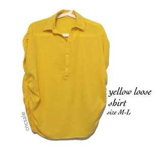 Yellow shirt blouse
