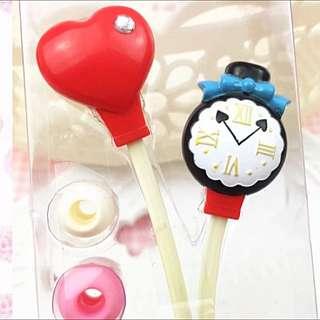日本 Swimmer 愛麗斯Alice In The Wonderland 系列 耳機 有電話對話咪位