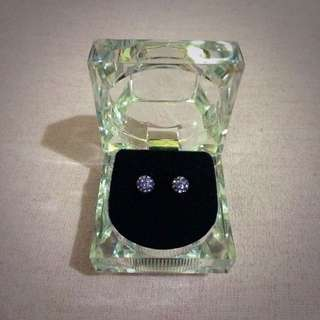 Never Worn Purple Diamond Stud Earrings