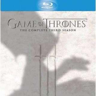 Game Of Thrones Season 3&4 On Blueray