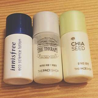 Korean beauty samples