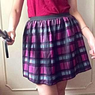 Tulip Checkered Skirt
