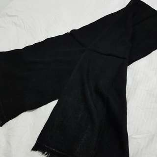 100% Cashmere Knit Black Scarf