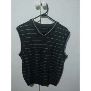 Grey Striped Vest