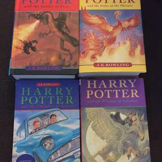 4 HARRY POTTER NOVELS