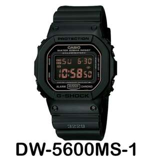 Original Casio G Shock DW-5600MS-1