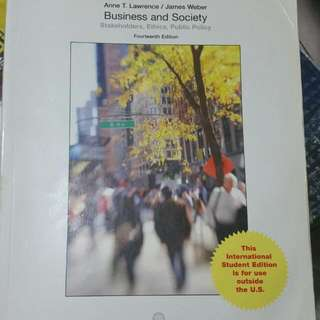 Business And Society (14th Edition)