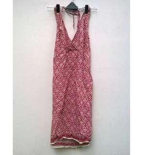 halterneck full printed dress size 7/8