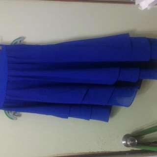 深海藍魚尾長裙