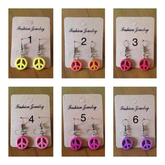 New - Peace Earrings Handmade