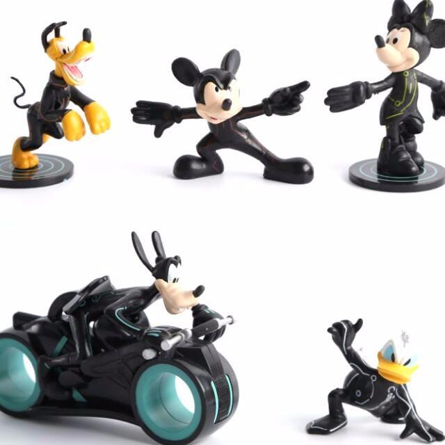 迪士尼公仔5套組 米奇/米妮/唐老鴨/高飛/摩托車 模型收藏 玩具 生日禮物