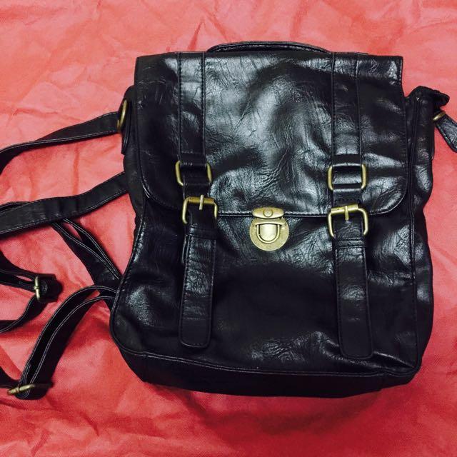 🔥降價🔥黑色皮革三用包🎒 #女裝五折出清