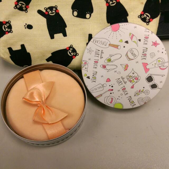 預購。日本超可愛手繪風粉餅。