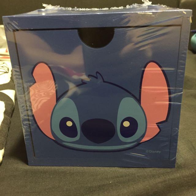 全新正版 迪士尼 史迪奇 收納盒 抽屜盒