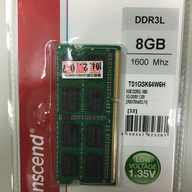 創見 DDR3-1600 8g