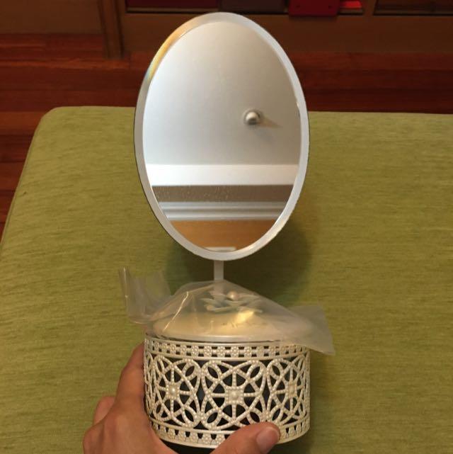 艾杜紗 ettusais 雕花化妝鏡  (桌鏡/立鏡/收納珠寶盒)