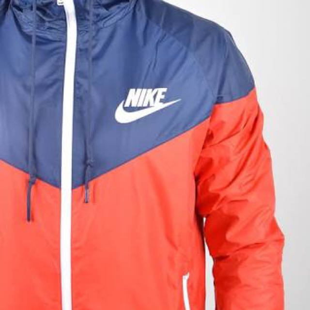 Authentic Nike Red And Navy Windrunner
