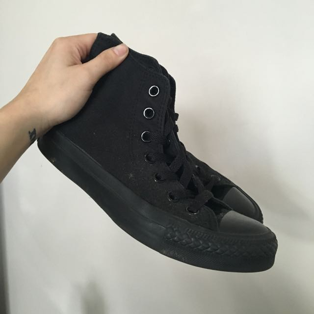 Black High Top Chucks