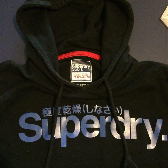 Black Super Dry Hoodie