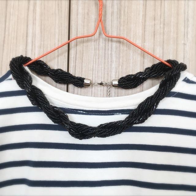 Black Swirl Necklace