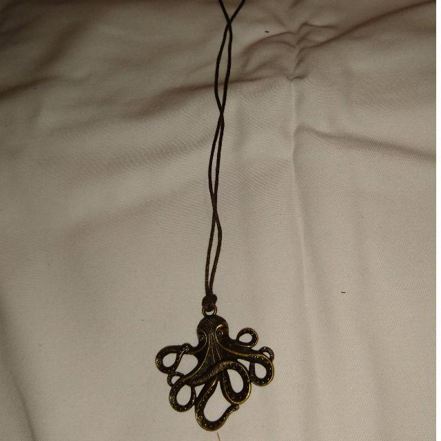 Brass octopus necklace