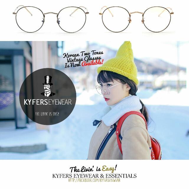 662b1e7ae2e BSC-010 Korean Vintage Two-Tones Round Glasses