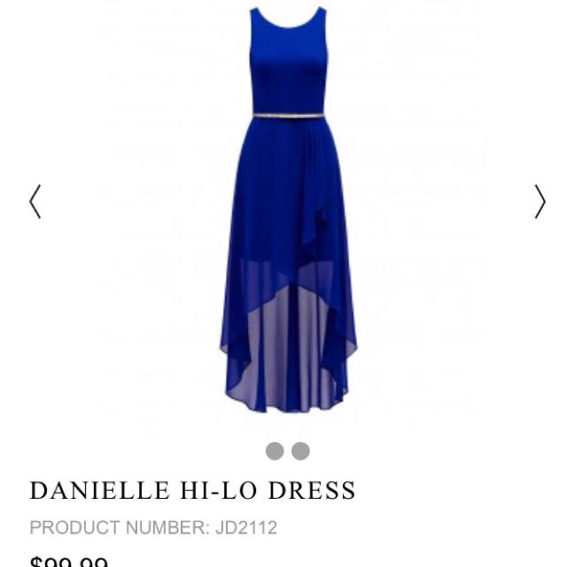 Danielle Hi-Low Dress Size 4