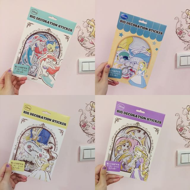 🇯🇵現貨/Disney 公主系列裝飾透明貼紙