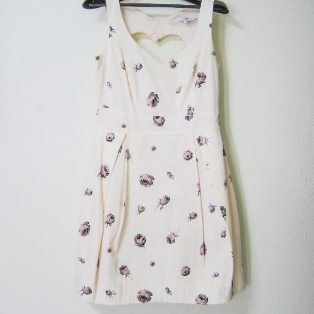 Heart Cutout Floral Dress