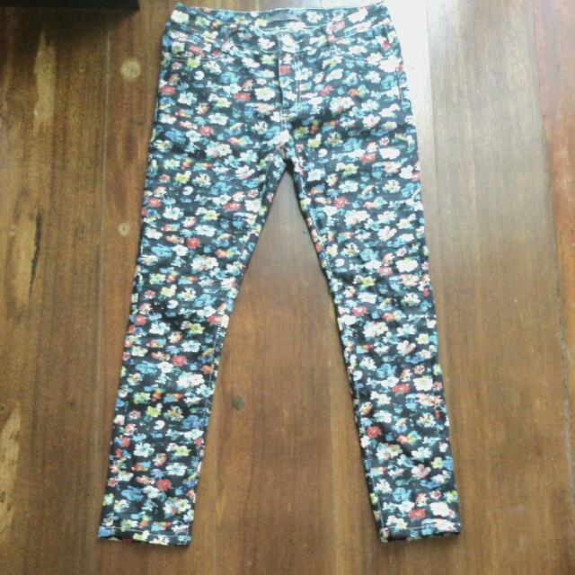 Floral Skinny Jeans *negotiable*