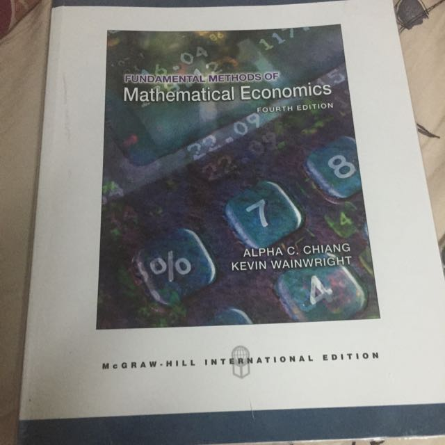 Fundamental Methods of Mathematical Economics經濟學原理
