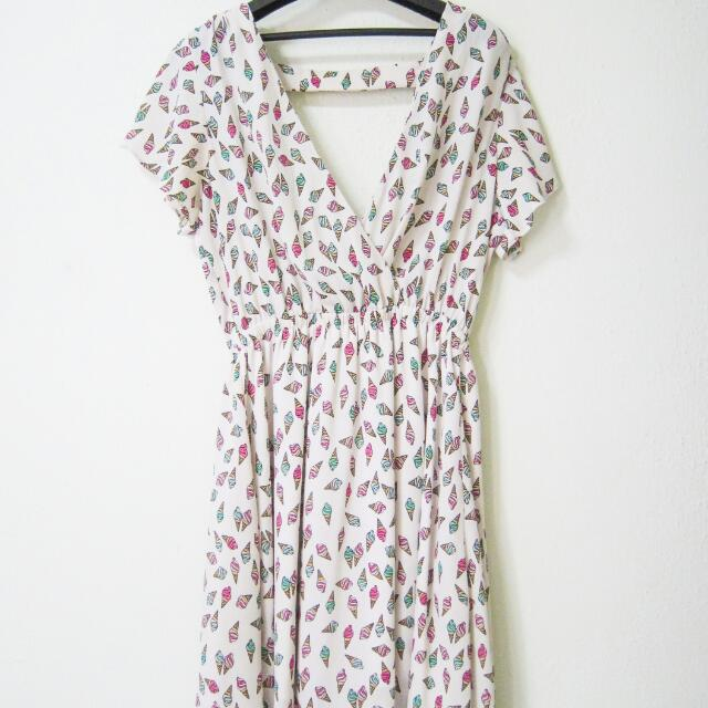 Ice Cream Print Dress