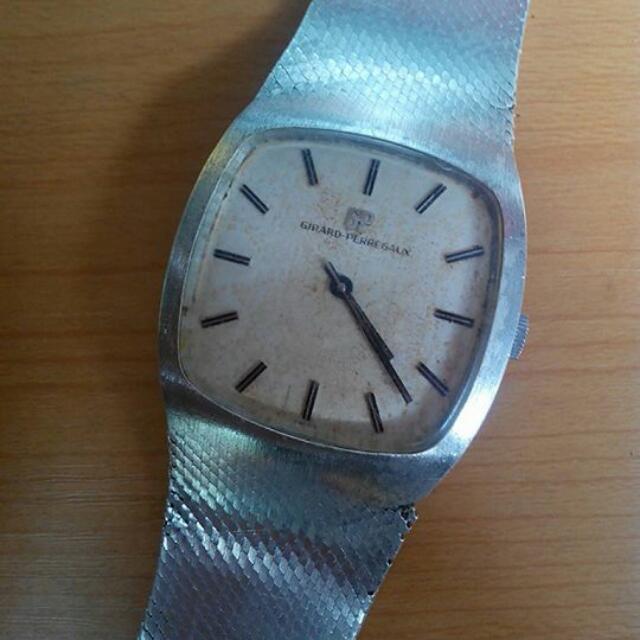 "Jam Tangan Antik ""Girard Perregaux"" Bahan Silver 925"
