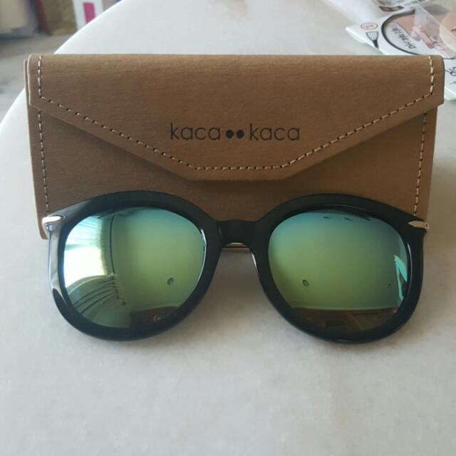 kaca-kaca 時尚墨鏡太陽眼鏡-復古迷奧-迷幻綠-MIO #gold