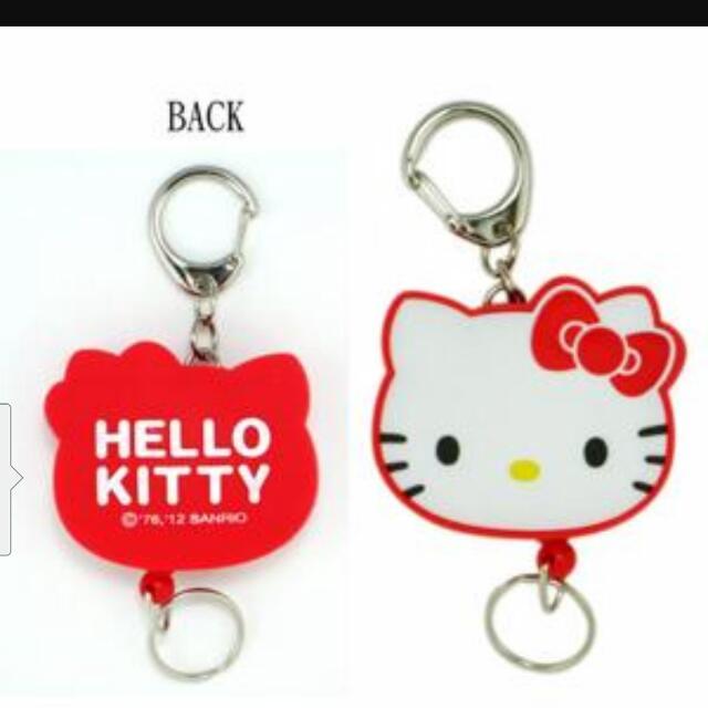 Kitty 伸縮鑰匙圈