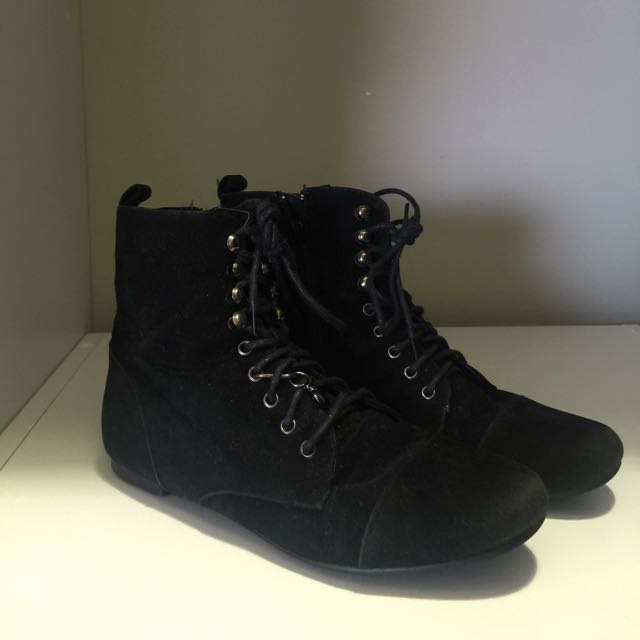 Lace Up Charm Boot