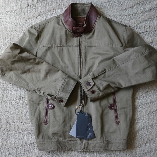 Massimo Dutti Suede Detail Khaki Jacket
