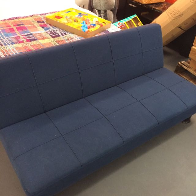 Navy Blue Fabric Sofa Bed/Futon