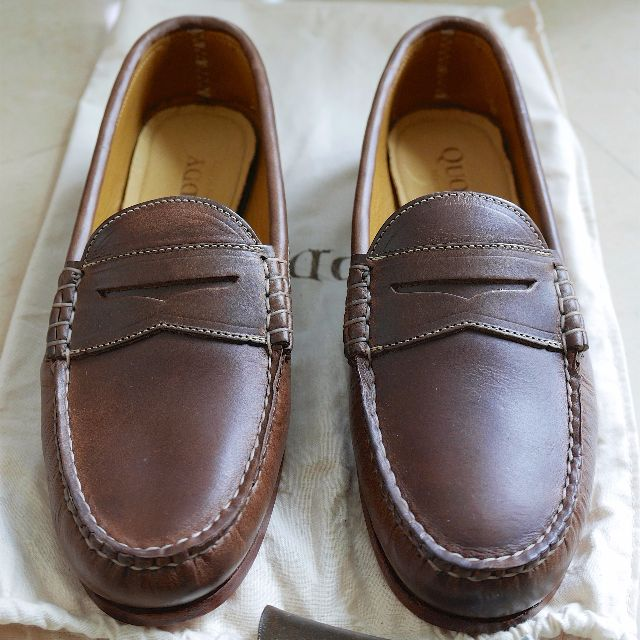 58995a7672c NEW Quoddy True Penny Loafer Natural Chromexcel US 7.5EE WIDE