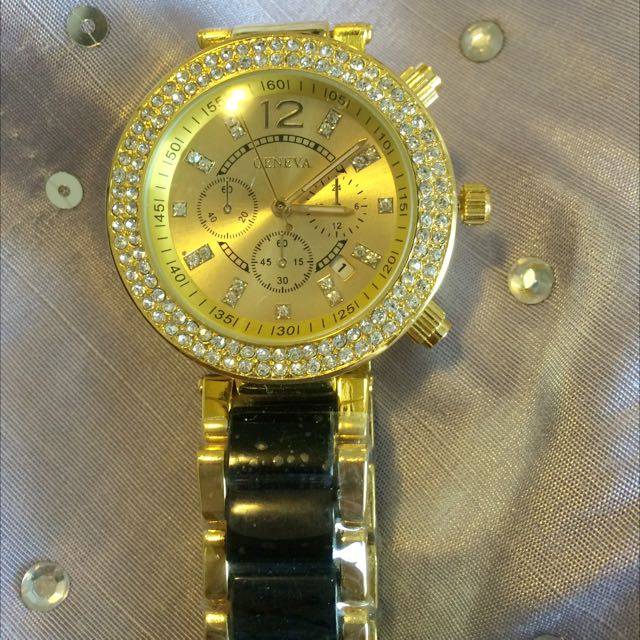 New Crystal Dial Gold & Black Watch