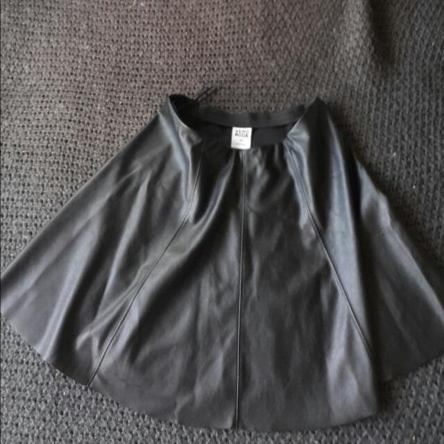 #VeroModa Black Leather Skirt Size XS/S