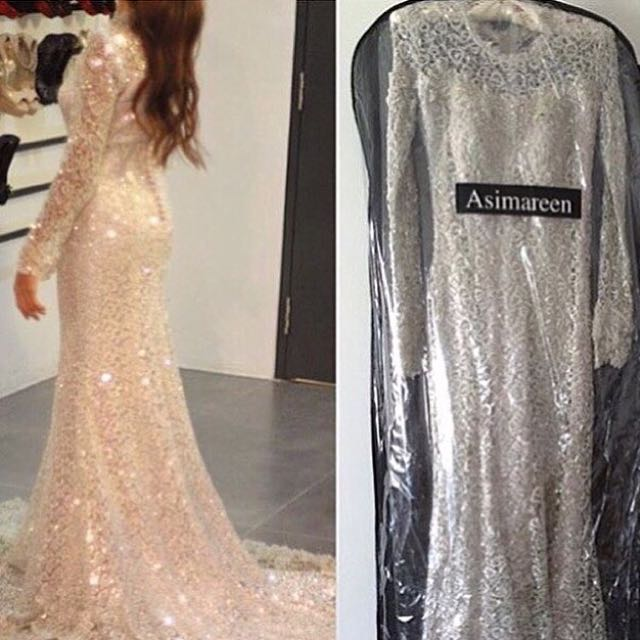 Wedding Dress Glitter Champagne Color Women S Fashion On Carousell