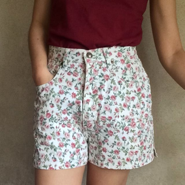 White Denim Garden Shorts (High waist)