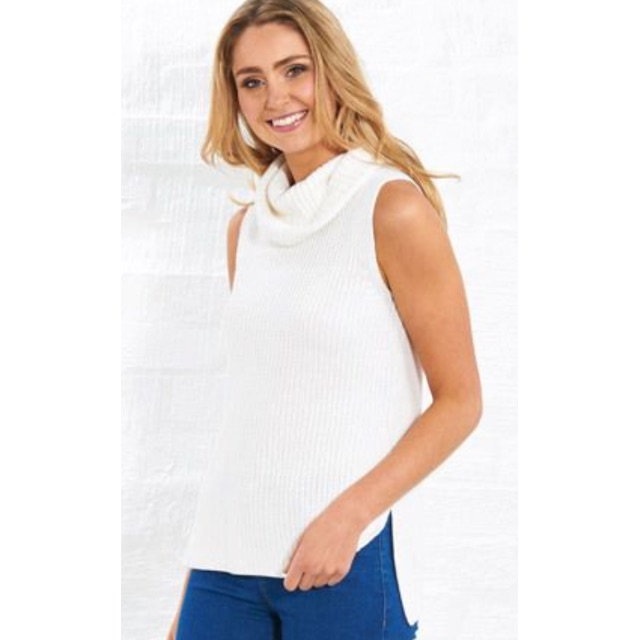 White roll neck knit - XS/S