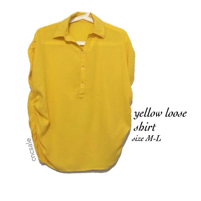 Yellow shirt blouse