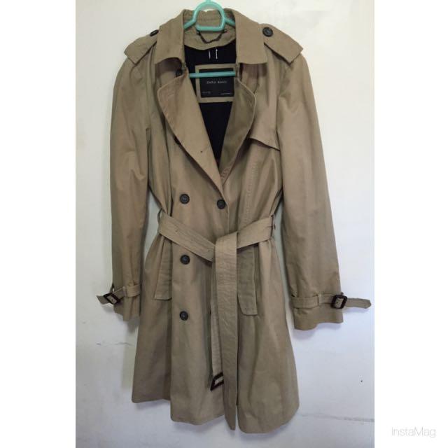 Zara Trench Coat Size Large