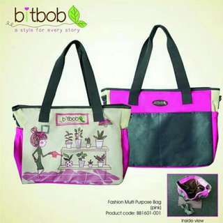 BitBob fashionable mummy Or diaper Bag (Improved Material)